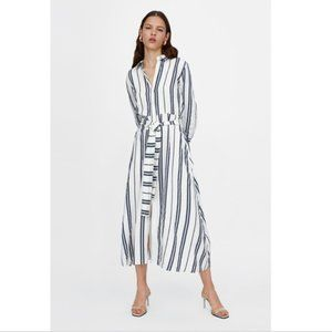 Zara Long Striped Tunic Dress